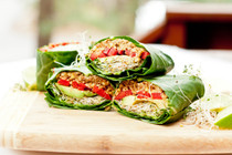 Avocado Pepper Collard Wraps