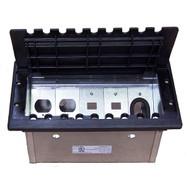 Five-Gang Electrical Box - Black