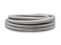 """2ft Roll of Stainless Steel Braided Flex Hose; AN Size: -4; Hose ID 0.22"""""""