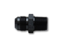 """Vibrant Straight Adapter Fitting; Size: -10AN x 3/8"""" NPT"""