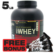 100% Whey Gold Standard 5LB, Chocolate Malt + FREE BONUS