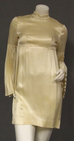 Cream Satin 1960's Vegas Wedding Dress