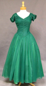 Elegant Emma Domb Emerald Nylon Evening Gown