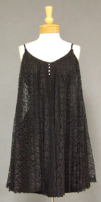 Cool 1960's Cocktail Dress in Pleated Lace