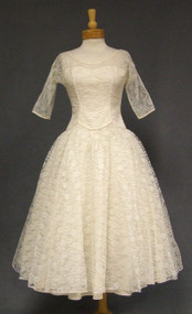 Beautiful Lorrie Deb Ivory Lace 1960's Wedding Dress