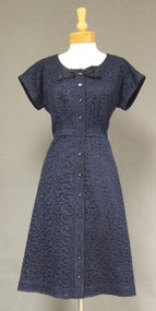 Navy Lace 1960's Cocktail