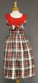Plaid Taffeta 1950's Cocktail Dress