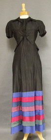 UNBELIEVABLE Late 1930's Halter Evening Gown w/ Matching Jacket