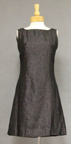 Sparkling Black 1960's Mini Dress