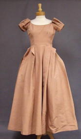 Unusual Dusty Pink Faille Ceil Chapman Evening Dress
