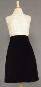 Lovely Black Velvet & Ivory Lace Shannon Rodgers Cocktail Dress w/ Jacket