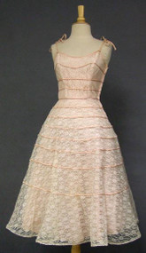 Charming Lace Cocktail Dress w/ Satin Bands #4