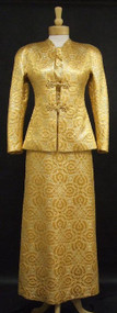 Scaasi Golden Silk Evening Gown w/ Jacket