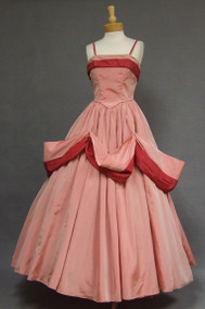 OUSTANDING Two Toned Taffeta 1950's Emma Domb Ball Gown