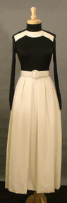 FAB Donald Brooks Black & White Evening Gown