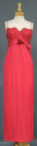 Gorgeous Kay Selig Hot Pink Lace & Georgette Evening Gown w/ Matching Stole