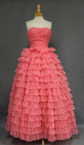 Perfect Pink Early 1960's Prom Gown