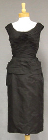 Fantastic Black Organdy 1950's Cocktail Dress