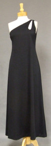 One Shouldered Knit Evening Gown w/ Cutout