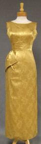 Will Steinman Golden Damask 1960's Evening Gown