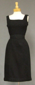 Henry Rosenfeld 1950's Wool Wiggle Dress w/ Belt