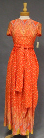 Orange Acetate Sarmi Boutique Maxi Dress