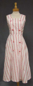 Rose Printed Cotton 1950's Wrap dress