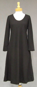 Malcolm Starr Black Wool Crepe Dress