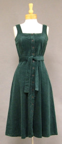 1970's Green Corduroy Dress/Jumper