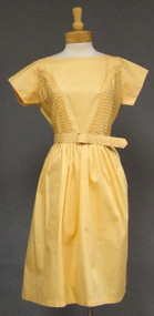 Unworn Orange Sherbet Cotton 1960's Day Dress