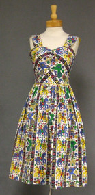 Colorful IKAT Vintage Sun Dress