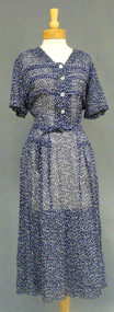 Navy & White Nelly Don Vintage Day Dress XL