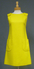 Canary Yellow SARMI Linen 1960's Dress