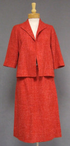Red & White Wool 1960's Suit