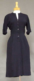 Classic Navy Rayon Office Dress