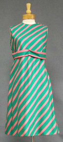 Watermelon Stripe 1960's Dress