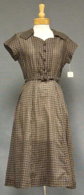N/OS Black & Brown Plaid 1950's Day Dress