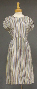 Cool Striped 1960's Day Dress