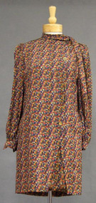 Multi Colored Galanos Silk Dress