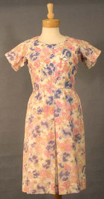 Pink Floral Acetate 1960's Day Dress