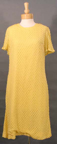 Yellow Popcorn Knit 60's Shift