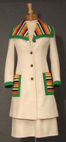 FANTASTIC Lilli Ann Knit Dress & Jacket w/ Striped Trim