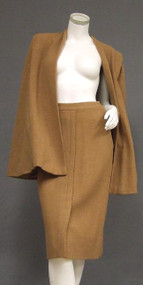 AWESOME 1940's Caramel Wool Cape Suit