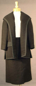 SUPERB Ribbed Wool Lilli Ann Suit w/ Swing Jacket