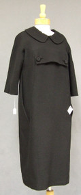 Galanos 1960's Wool Day Dress w/ Peter Pan Collar
