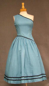 Fredericks of Hollywood One Shouldered 1950's Sun Dress