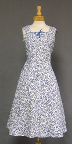 Unworn Lane Bryant Blue & White Eyelet Vintage Sun Dress