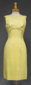 Lilli Diamond Sunny Yellow 1960's Dress w/ Daisies & Matching Cape