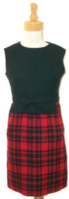 Wonderful 1960's Christian Dior Wool Plaid Dress w/ Jacket