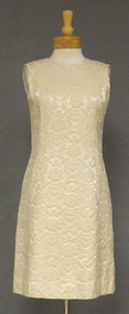 Cream Brocade Stephen O'Grady 1960's Cocktail Sheath